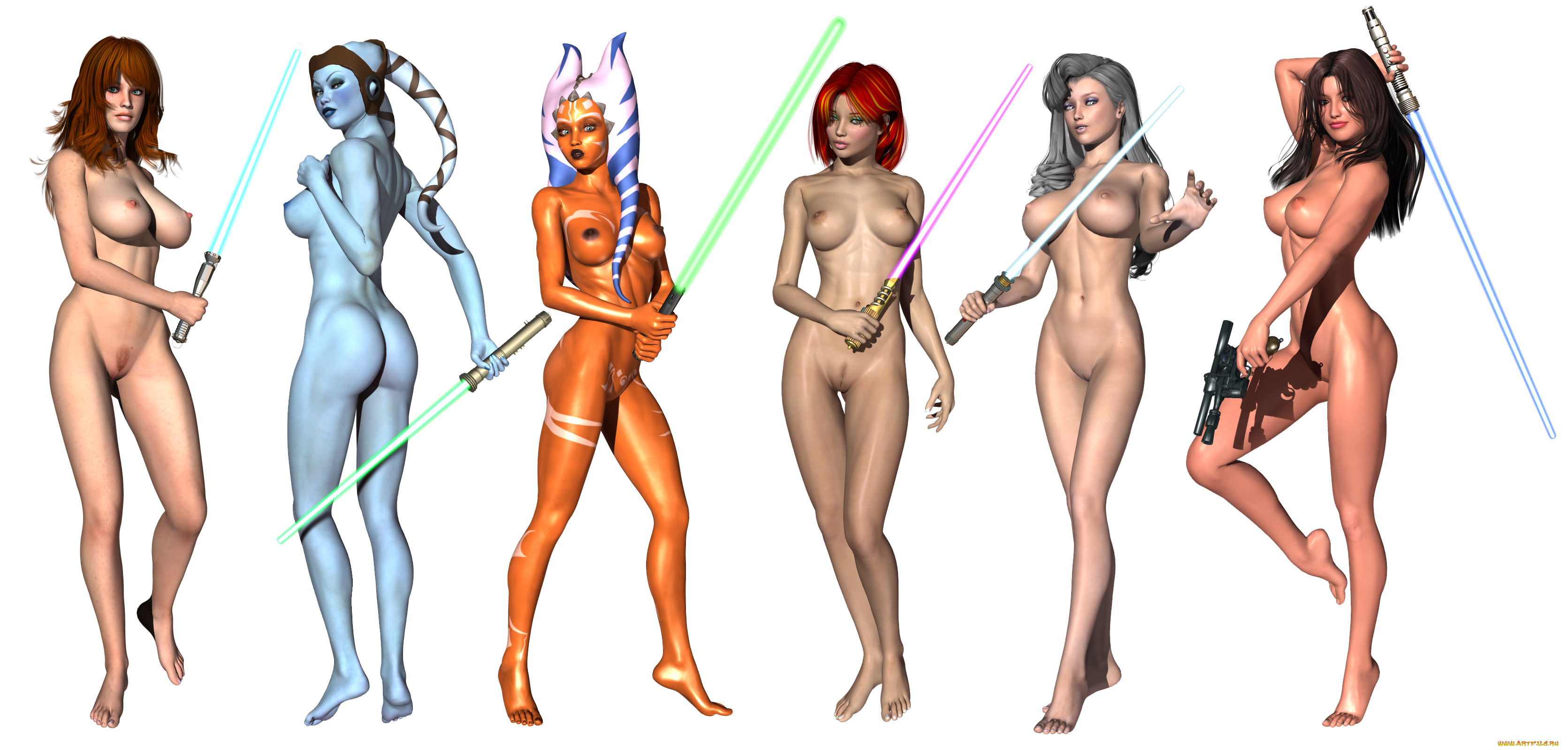 Female jedi nude naked movie